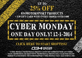 034Motorsport Cyber Monday Sale: Last Chance to Save!