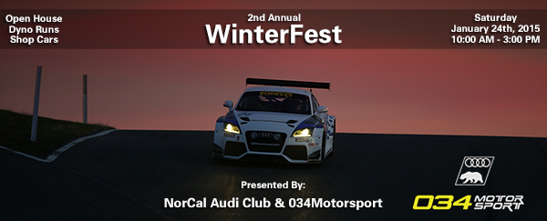 NorCal Audi Club WinterFest Meet at 034Motorsport January 24th, 2015
