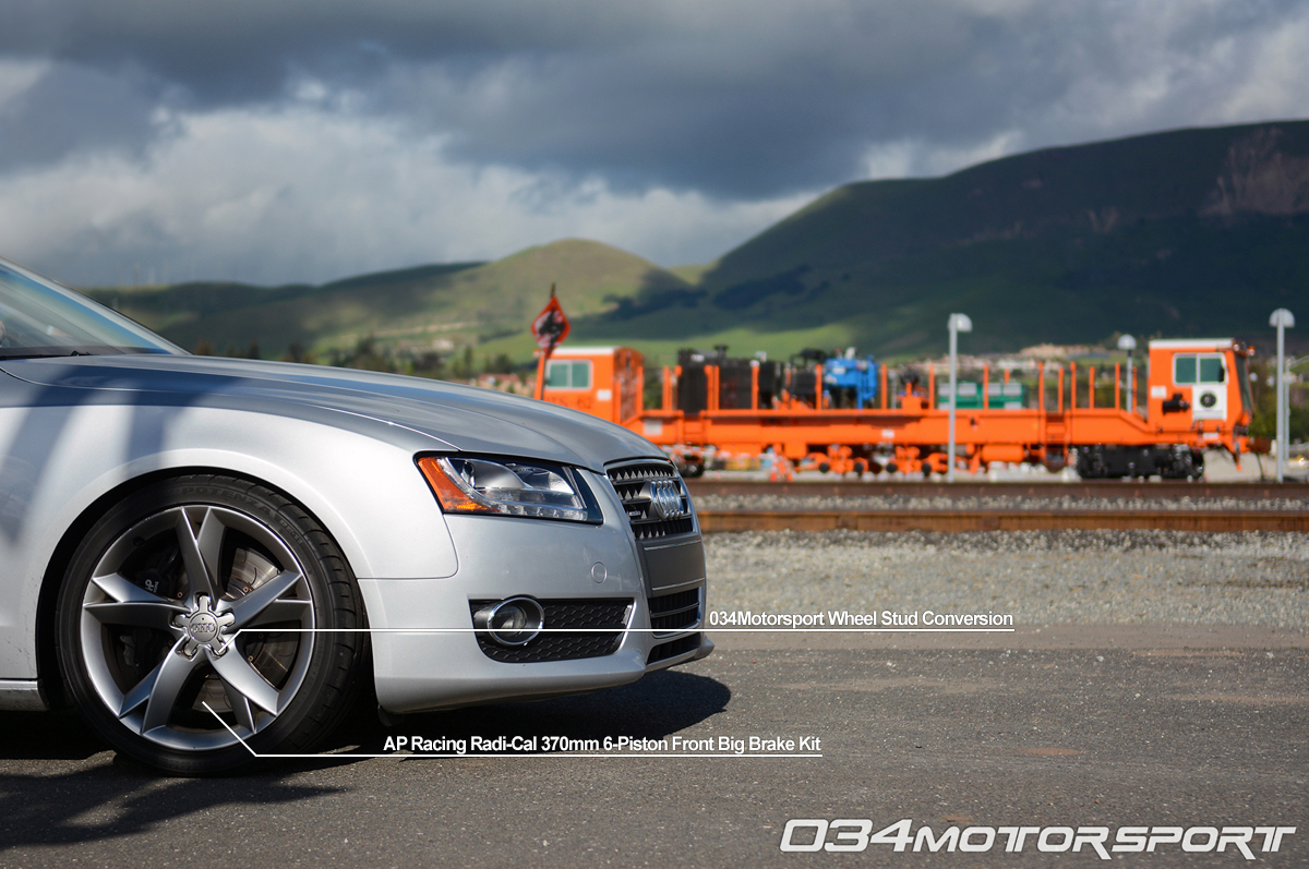 Tuned B8 Audi A5 2.0 TFSI Featuring AP Racing Big Brake Upgrade &  034Motorsport Wheel Stud