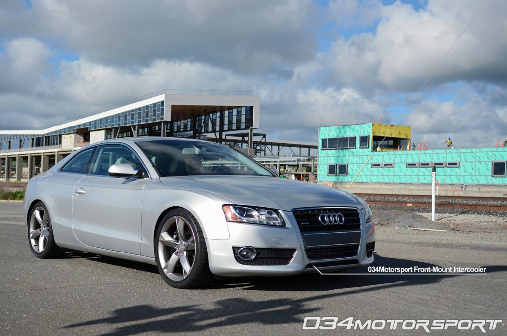 Tuned B8 Audi A5 2.0 TFSI with 034Motorsport Front Mount Intercooler (FMIC) Upgrade
