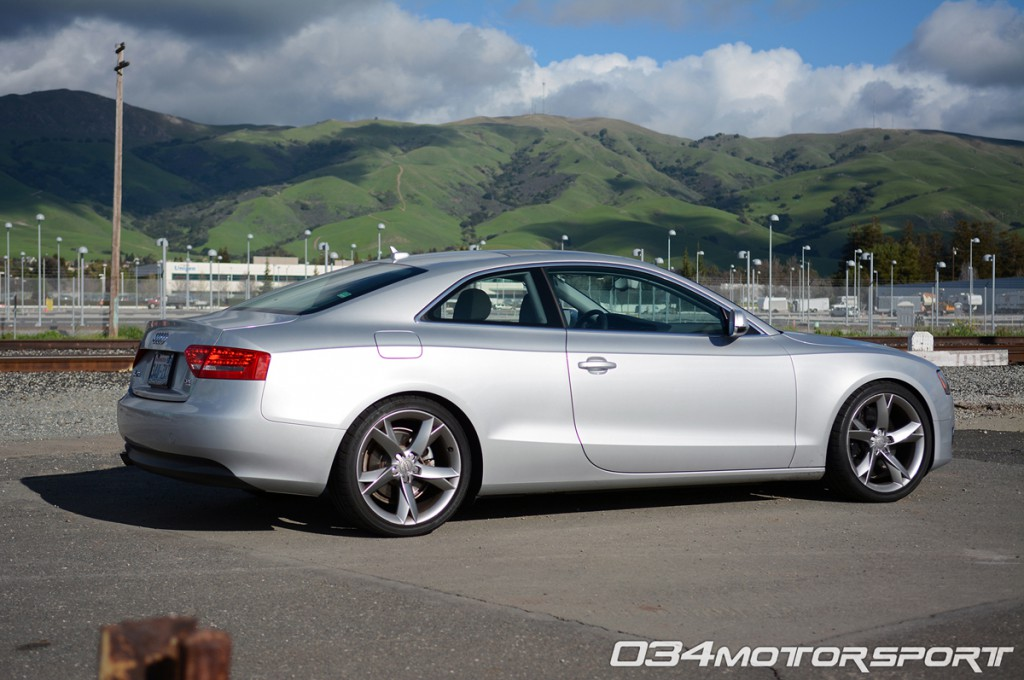 Tuned B8 Audi A5 2.0 TFSI Lowered on H&R Street Sport Springs