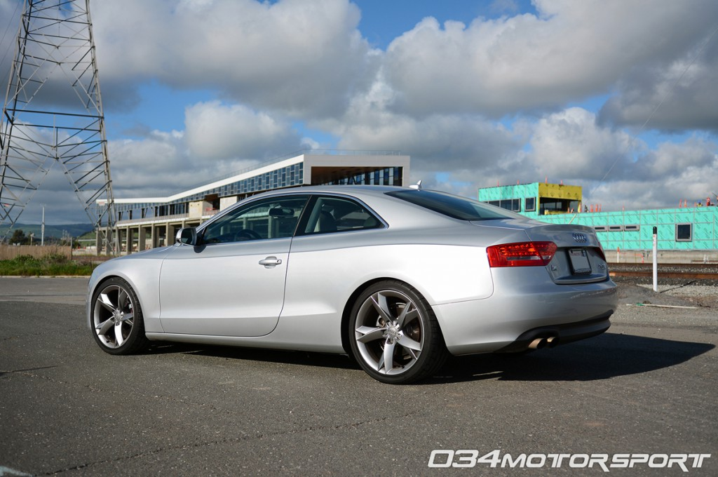 Tuned B8 Audi A5 2.0 TFSI with K04 Turbocharger Upgrade Lowered on H&R Street Sport Springs