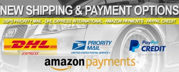 Expanded Shipping & Payment Options!