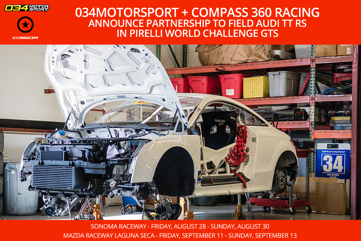 034Motorsport & Compass 360 Racing to Field Audi TT RS in Pirelli World Challenge