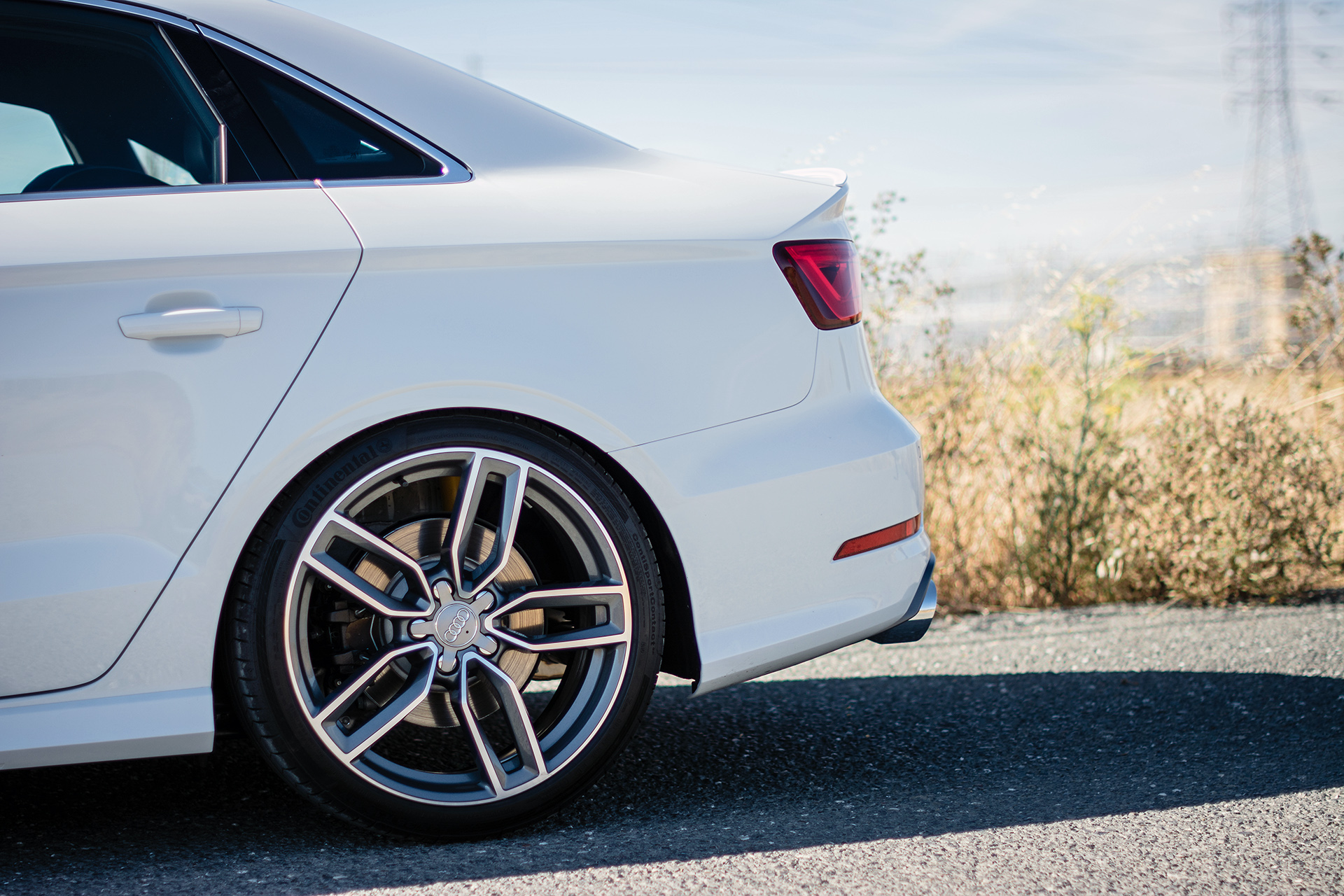 Glacier White Metallic Audi S3 Suspension Upgrades