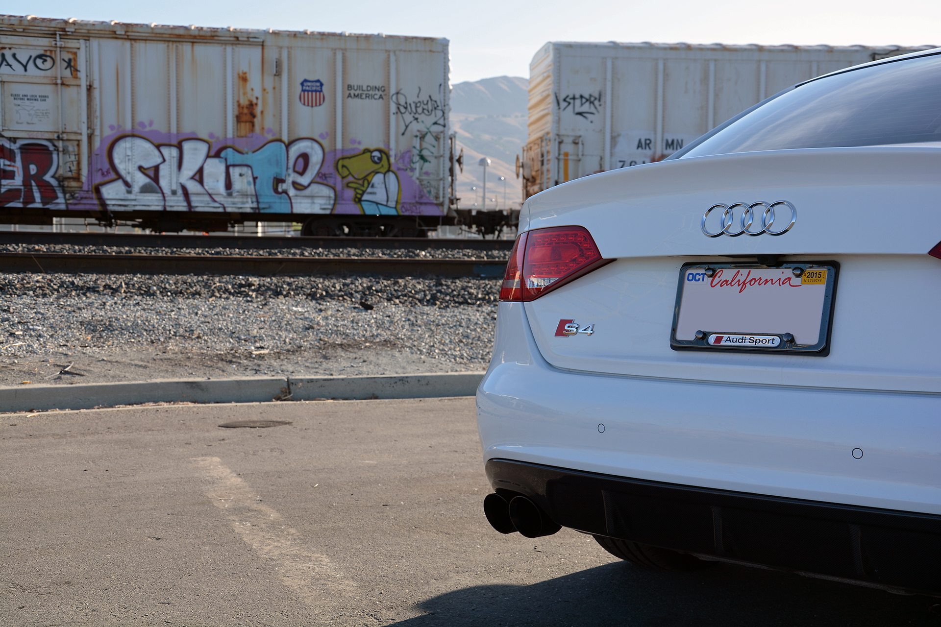 Ibis White B8 Audi S4 with AWE Tuning Performance Exhaust