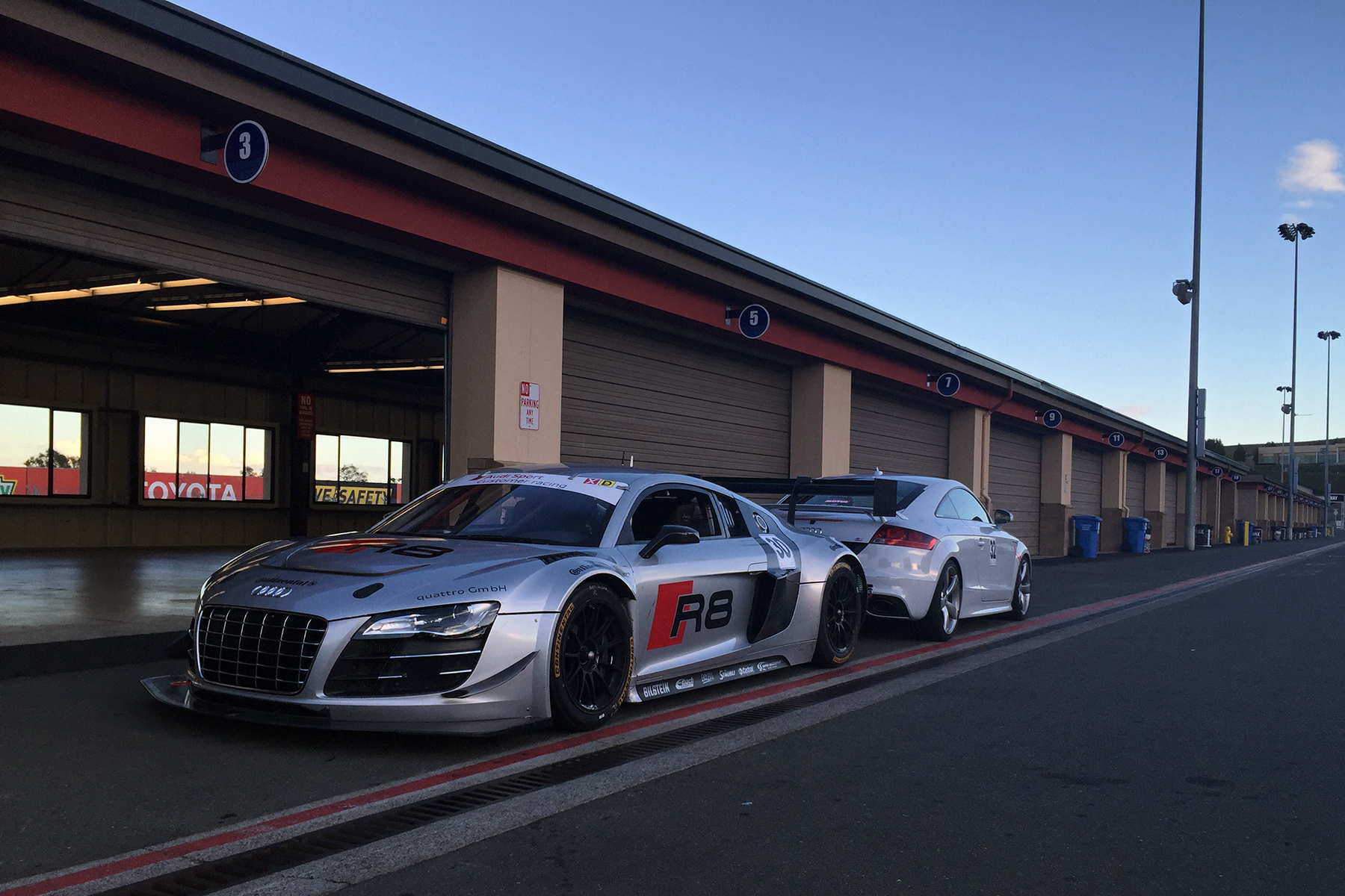 Troy's Stage 2 Audi TT RS with Audi Sport R8 V10 Race Car