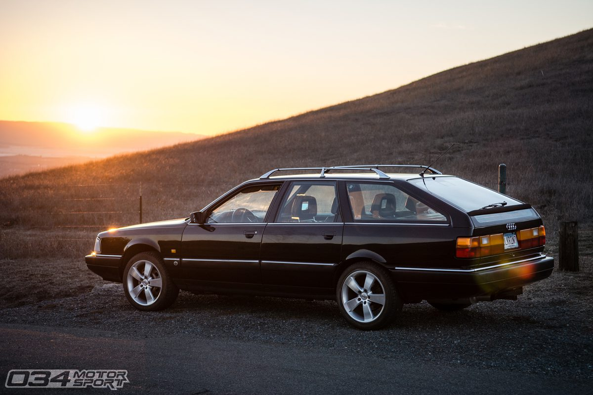 Sunset with Audi 200 20V Avant Quattro