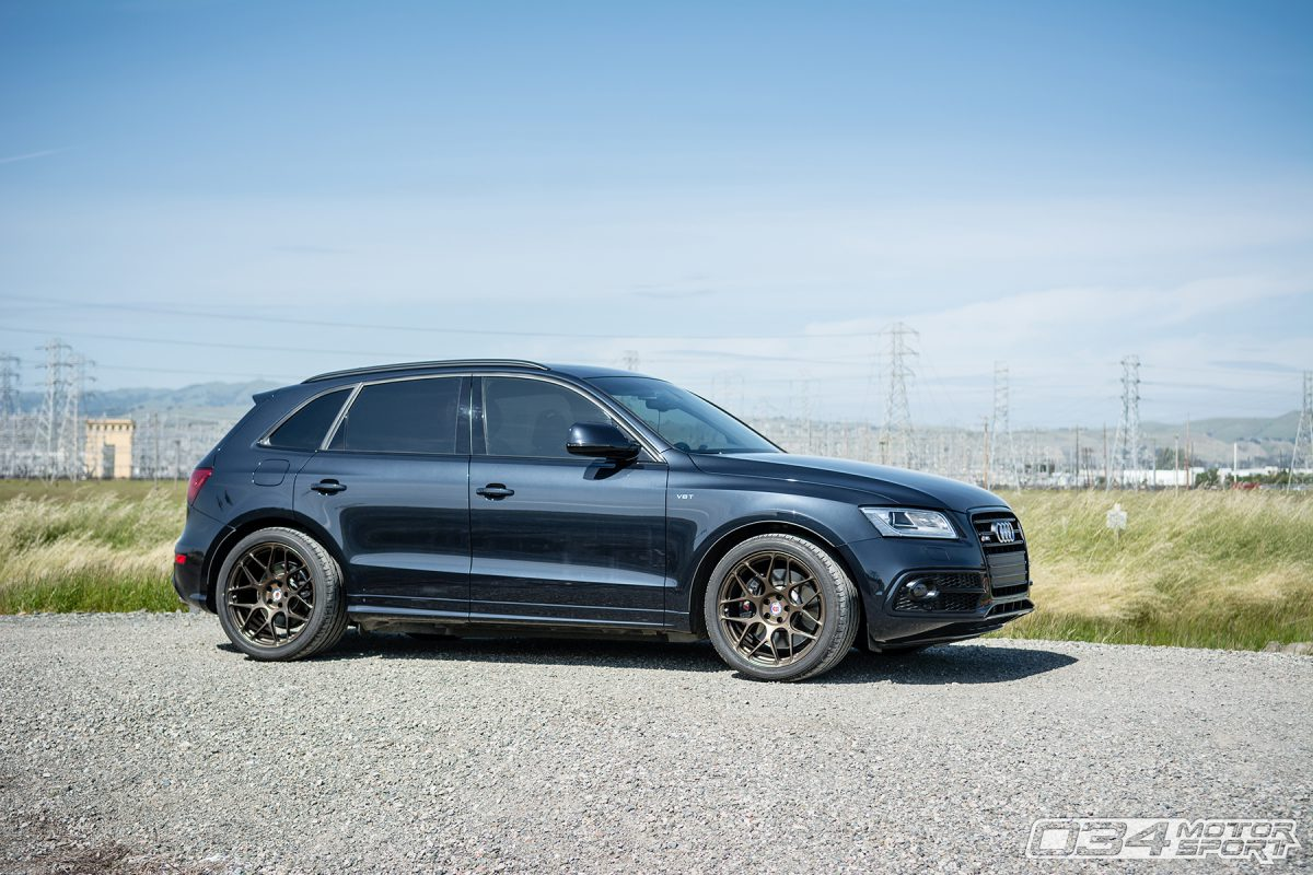 Audi SQ5 Lowered on KW H.A.S. Height Adjustable Springs