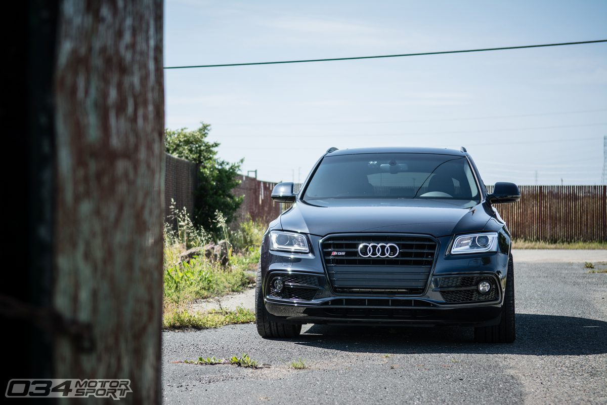 Russ' Lowered Moonlight Blue Audi SQ5