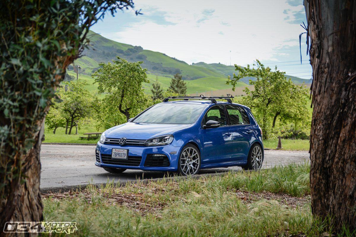 Rising Blue Mk6 Golf R 4 Door on VMR Wheels