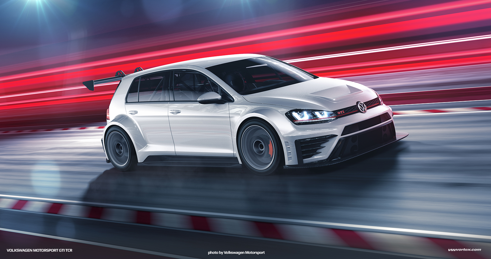 Mk7 VW Motorsport Golf GTI TCR Race Car Render