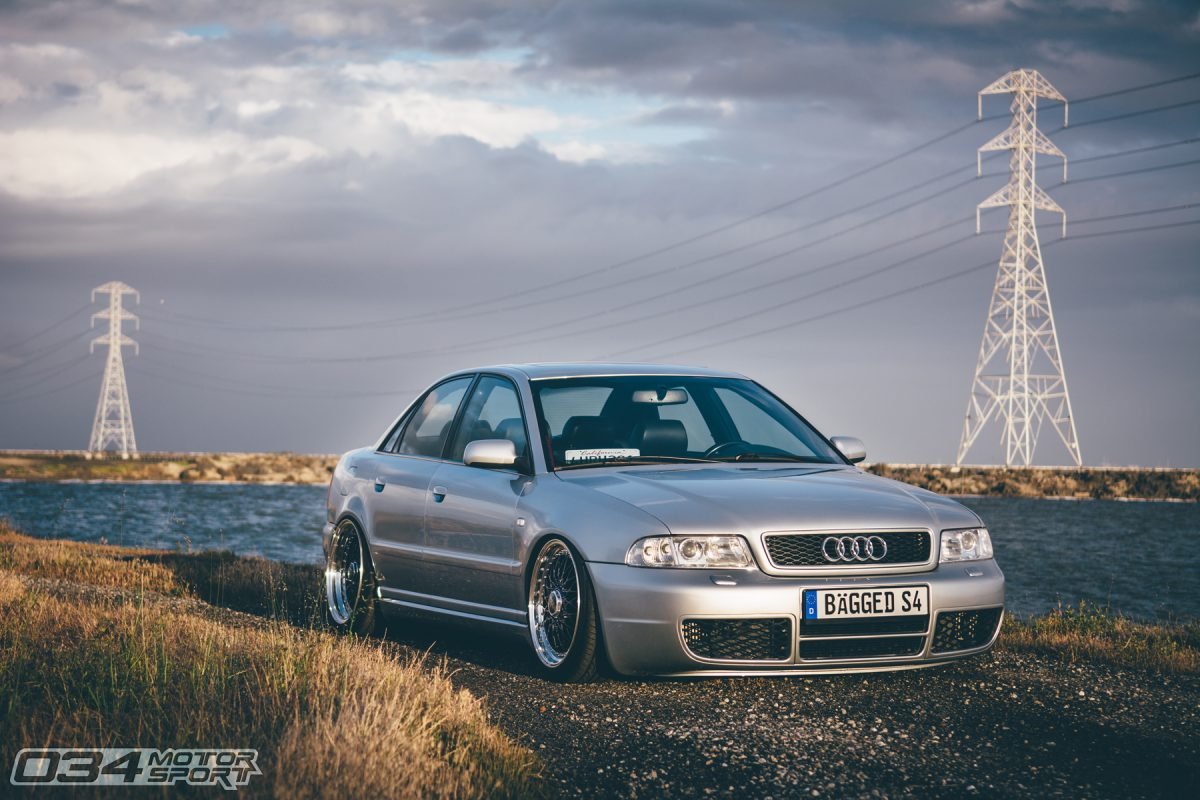 B5 S4 bagged on BBS Super RS wheels