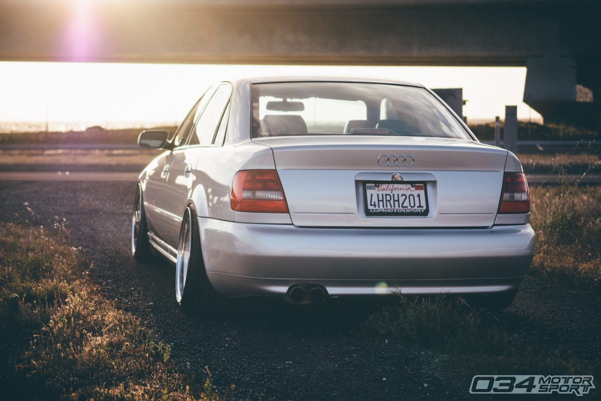 Silver B5 S4 sedan on BBS wheels