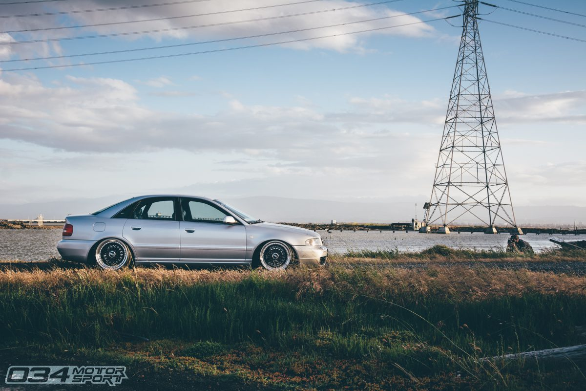 Stage 3 Audi B5 S4 lowered on BBS wheels