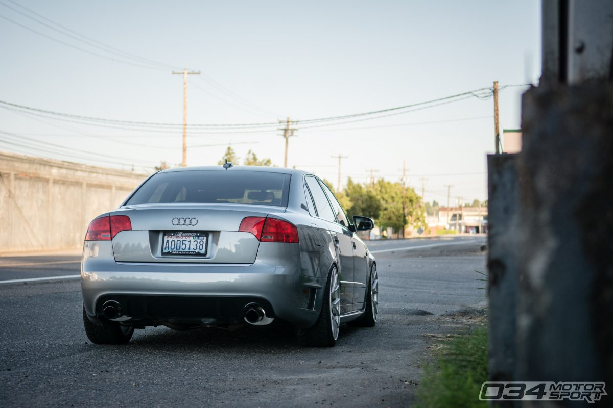 B7 Audi A4 lowered on Koni Coilovers