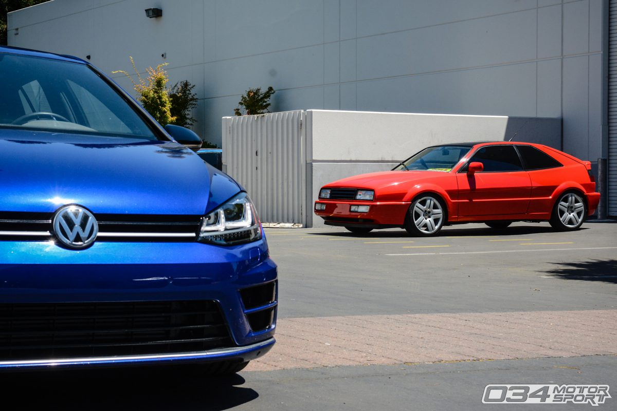 Volkswagen Corrado and MkVIII Golf R at 034Motorsport Performance Facility
