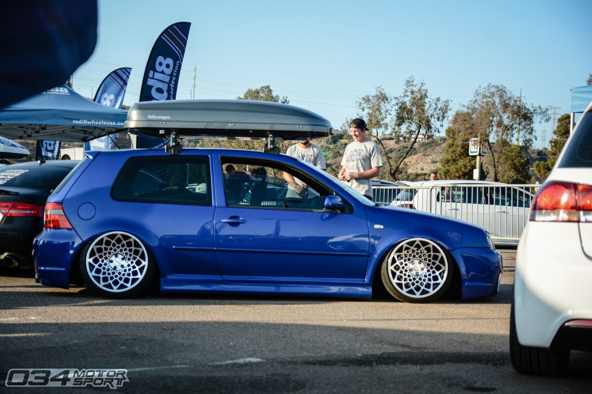 Bagged MkIV Volkswagen R32 on WCI wheels