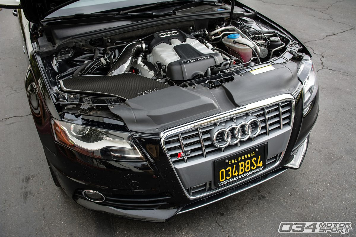 Tuned B8 Audi S4 with Carbon Fiber Intake