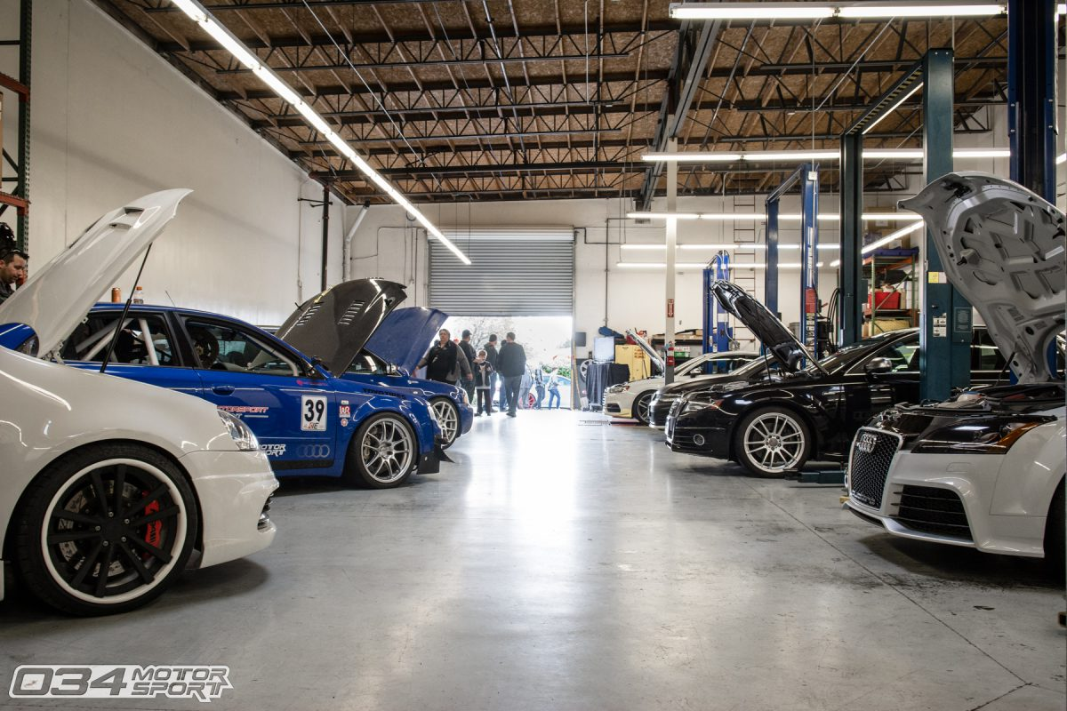 Tuned Audis and Volkswagens in 034Motorsport Service Department