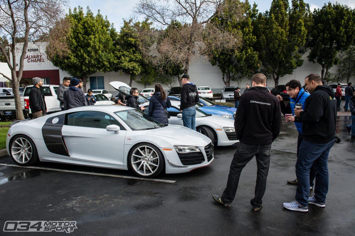 Lowered Audi R8 V10 in Bay Area
