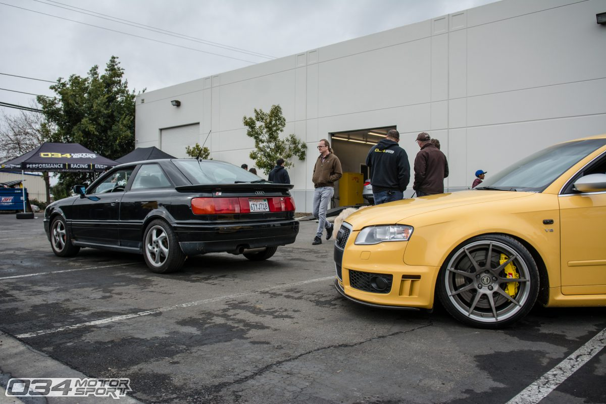 Tuned Coupe Quattro and Imola Yellow B7 Audi RS4