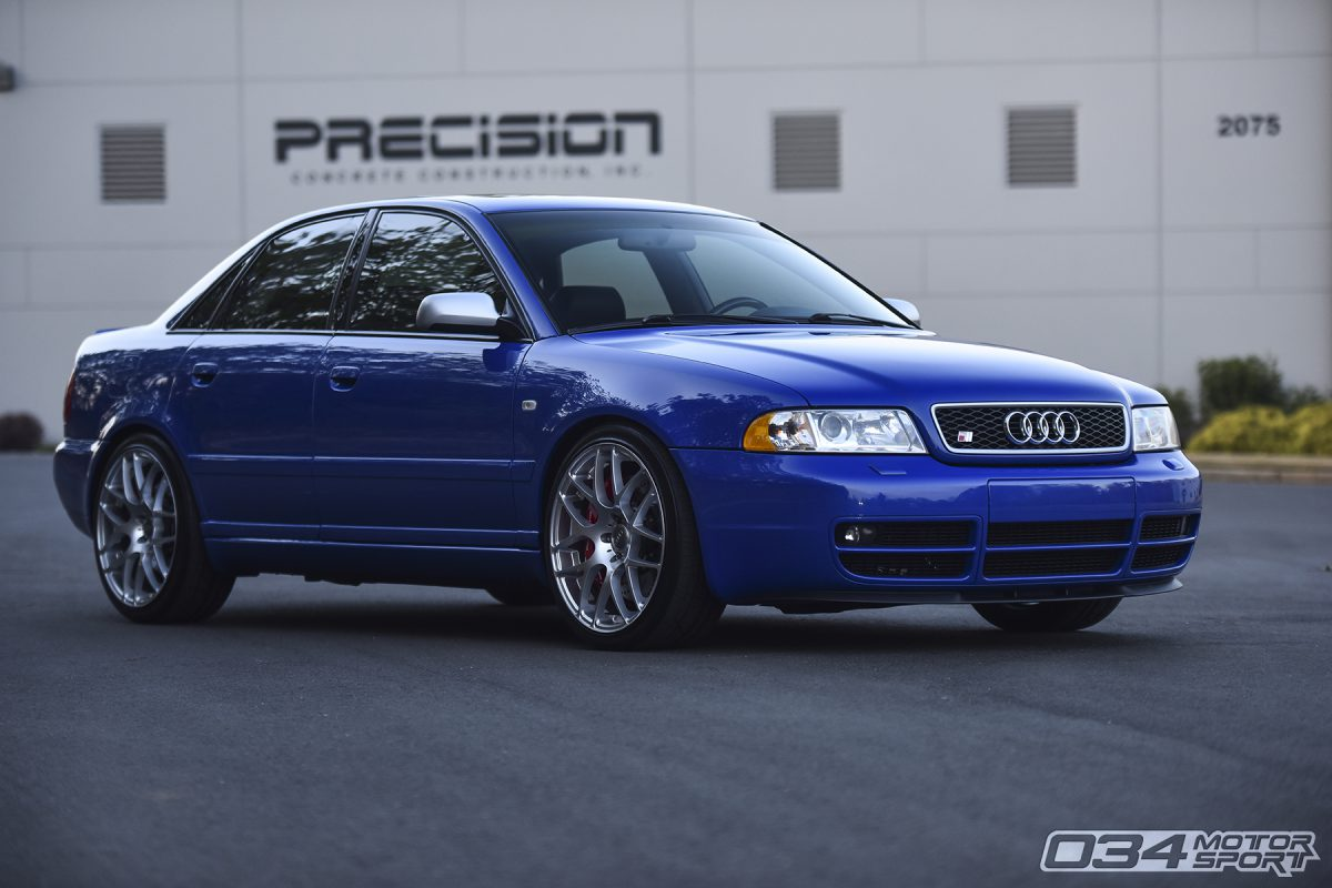 Lowered Audi B5 S4 on VMR Wheels