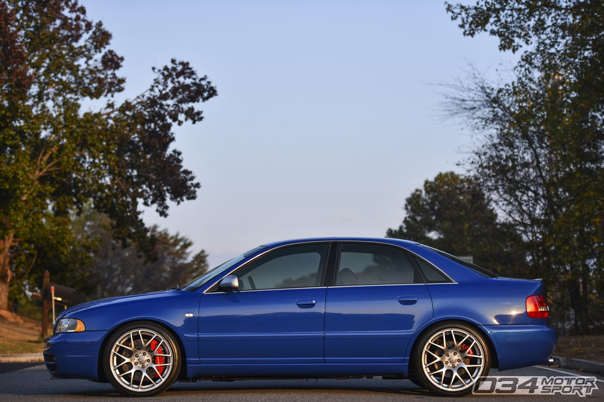 Lowered B5 Audi S4 on VMR Wheels