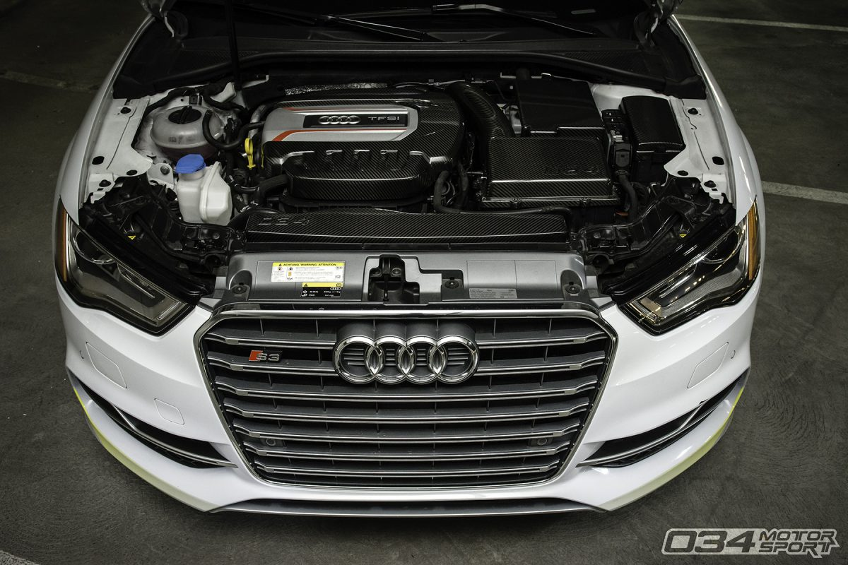 034Motorsport Carbon Fiber 8V Audi S3 Engine Bay