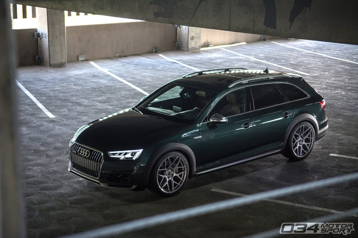 Lowered B9 Audi Allroad with Dynamic+ Lowering Springs