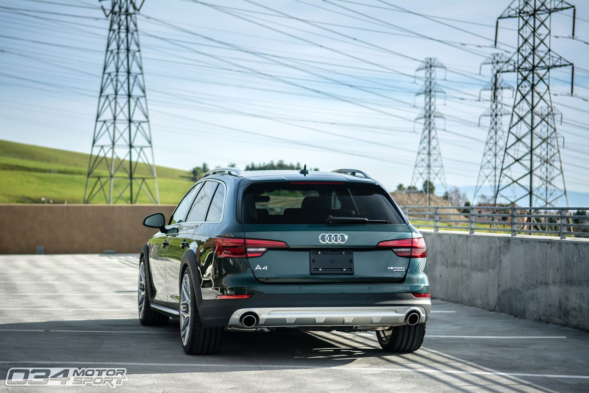 Stanced B9 Audi Allroad on HRE Wheels