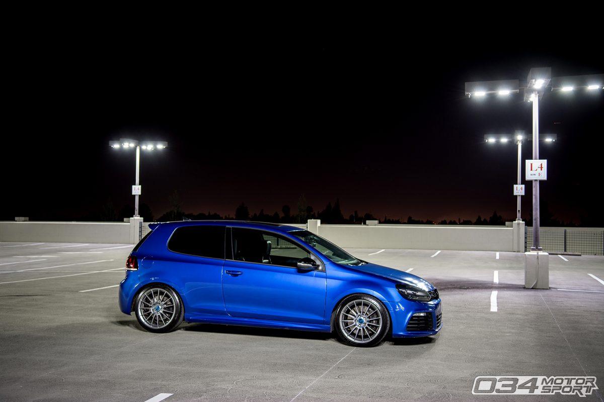 Rising Blue Lowered MkVI Volkswagen Golf R