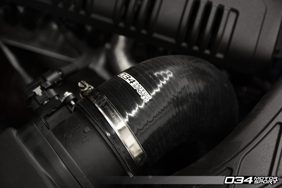 High Flow Turbo Inlet Hose for Audi Q5 2.0T Installed