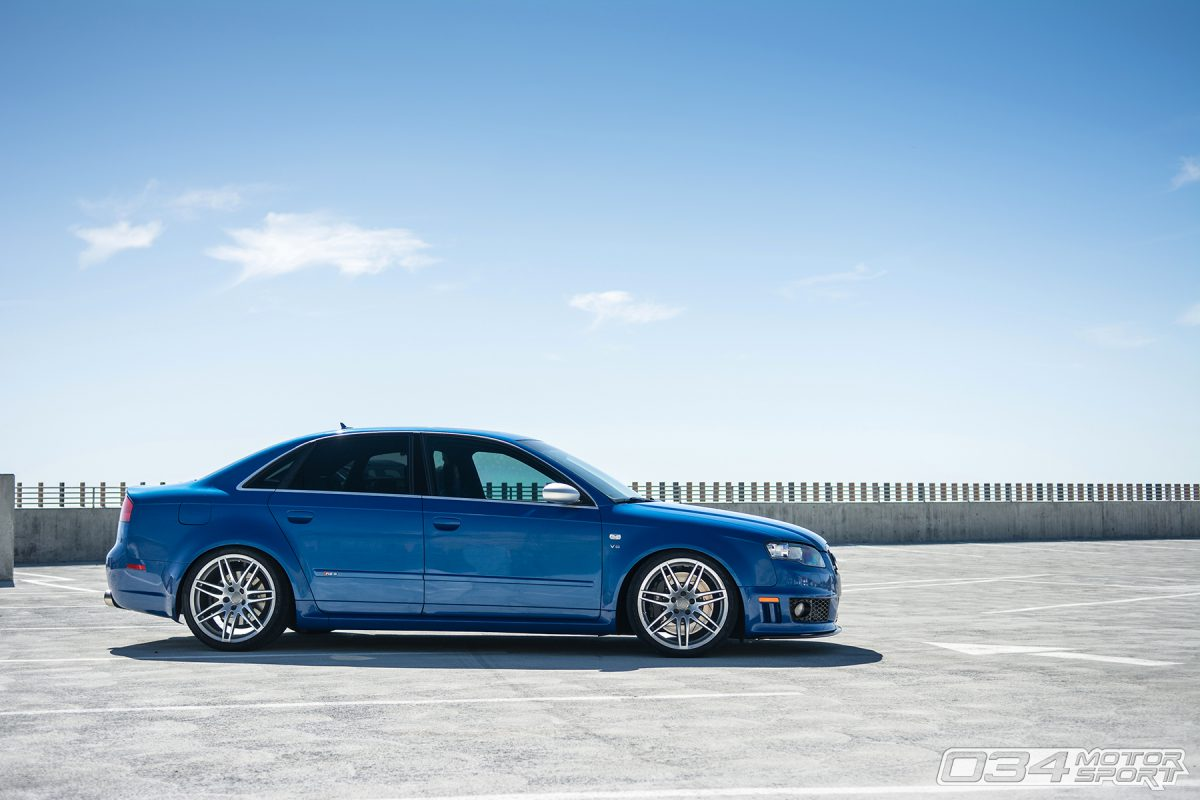 Lowered Sprint Blue B7 Audi RS4