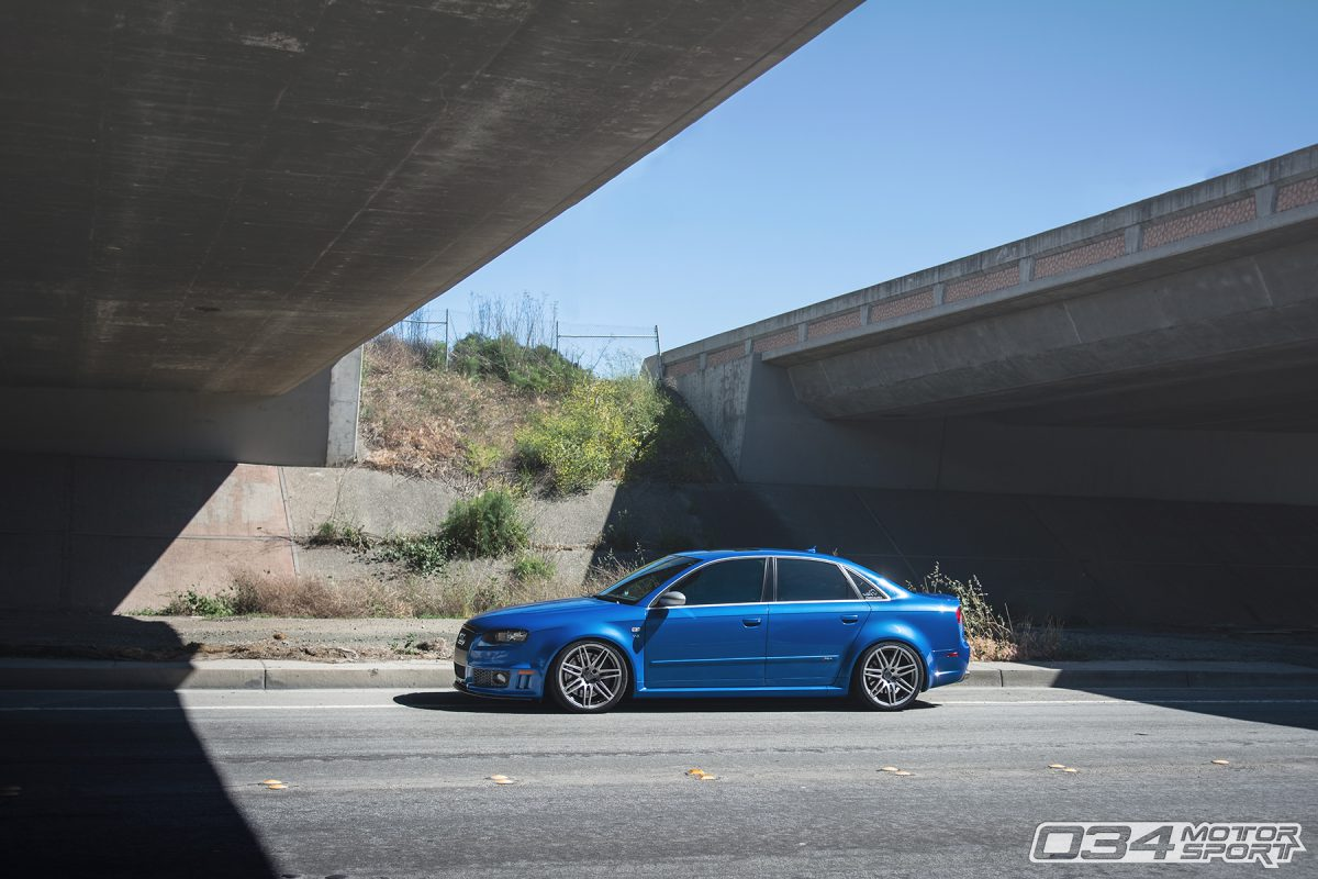 Lowered B7 Audi RS4 with Suspension Upgrades