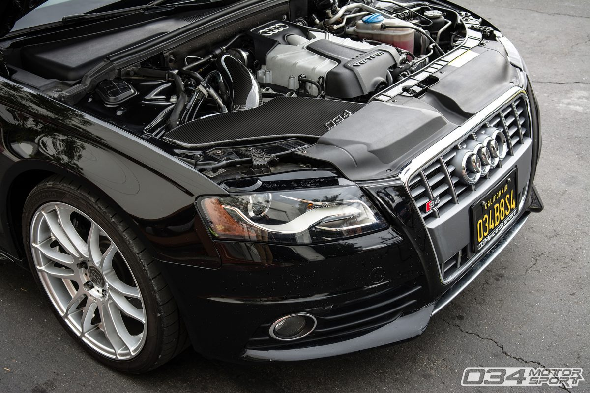 Stage 2 b8 audi s4 with carbon fiber cold air intake