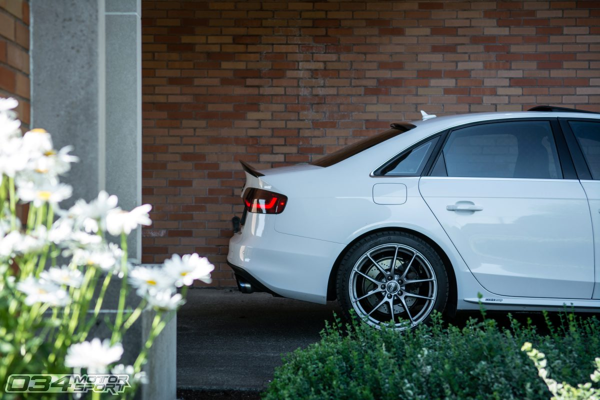 Tuned Glacier White B8.5 Audi S4 on OZ Wheels