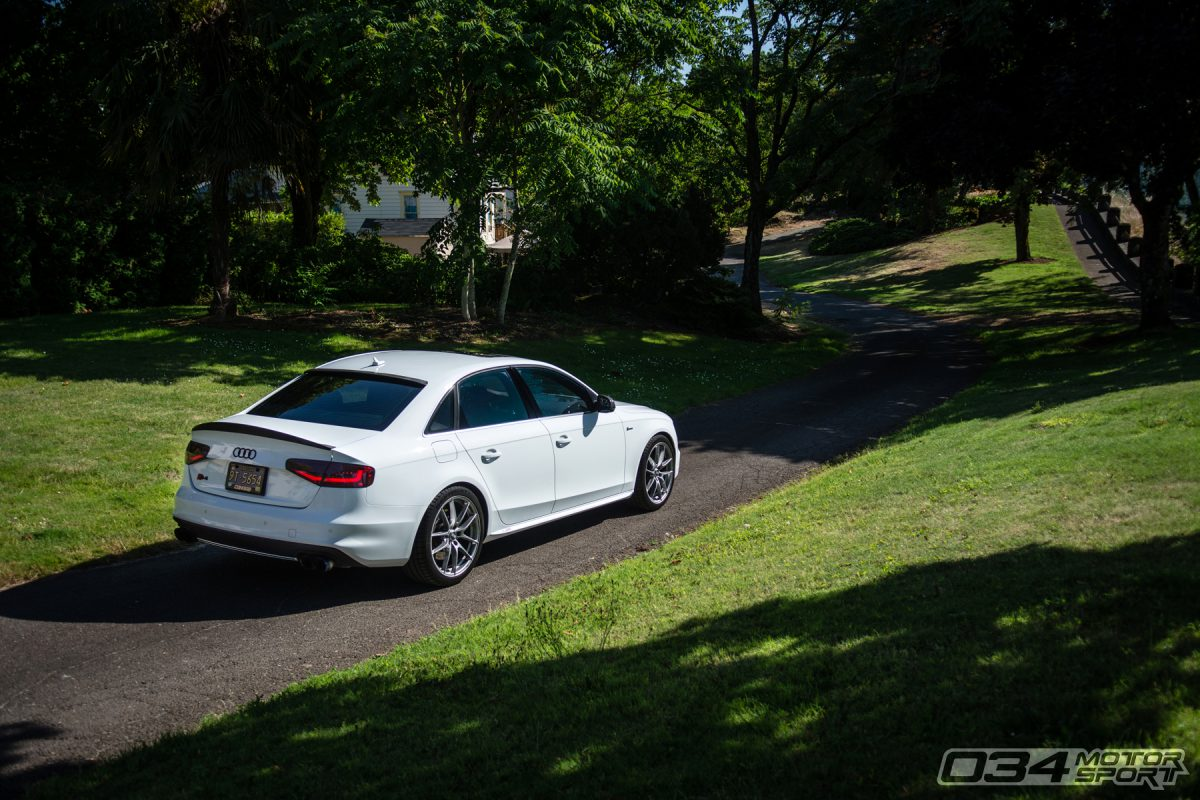 Tuned B8.5 Audi S4 in Glacier White with OZ Racing Wheels
