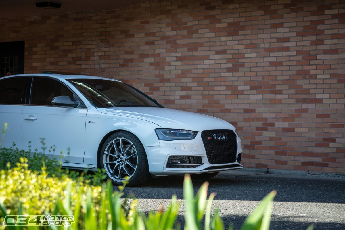 Glacier White B8.5 Audi S4 on OZ Racing Wheels