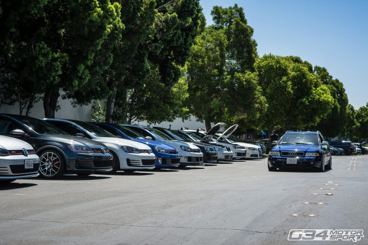 B5 Audi Avant and Mk7 Volkswagens at 034Motorsport SummerFest