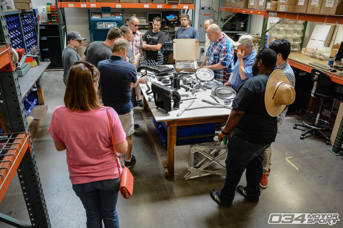 SummerFest Facility Tour in 034Motorsport Manufacturing Department