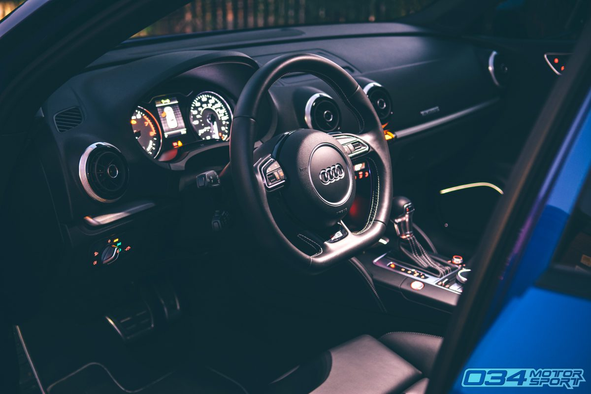 8V Audi S3 Interior with Flat Bottom Steering Wheel