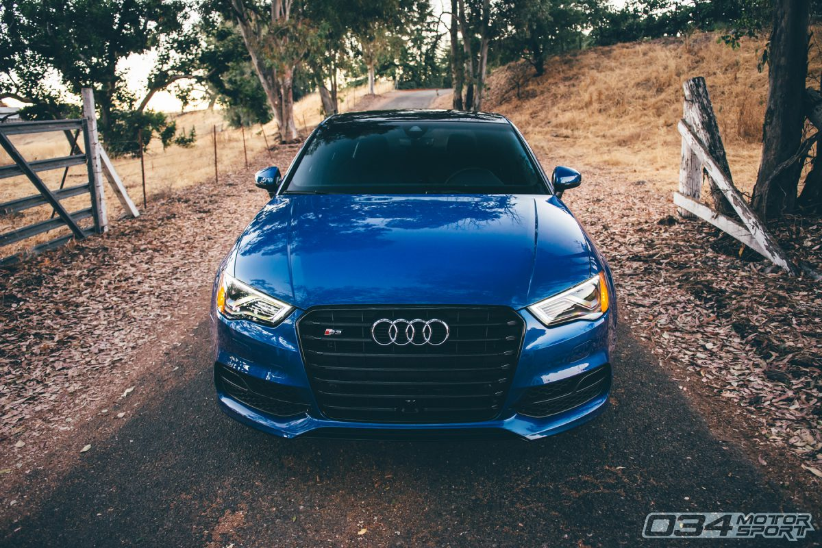 R460 Tuned 8V Audi S3 in Sepang Blue Pearl