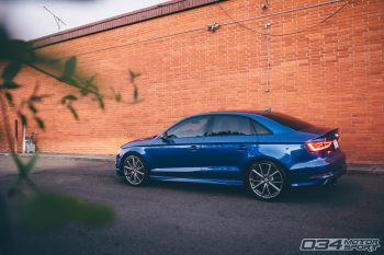 Samuel's Sepang Blue 8V Audi S3 with R460 Turbo Kit
