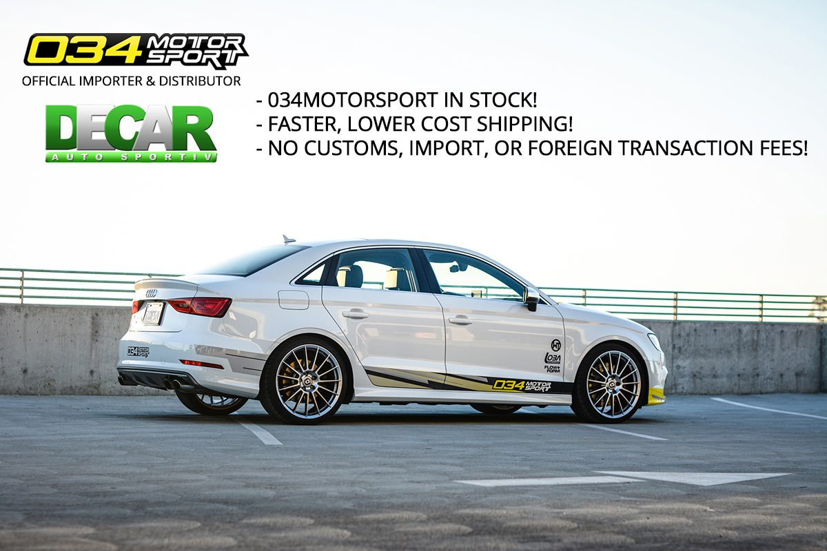 DeCar Auto Sportiv Official Distributor for 034Motorsport in Canada