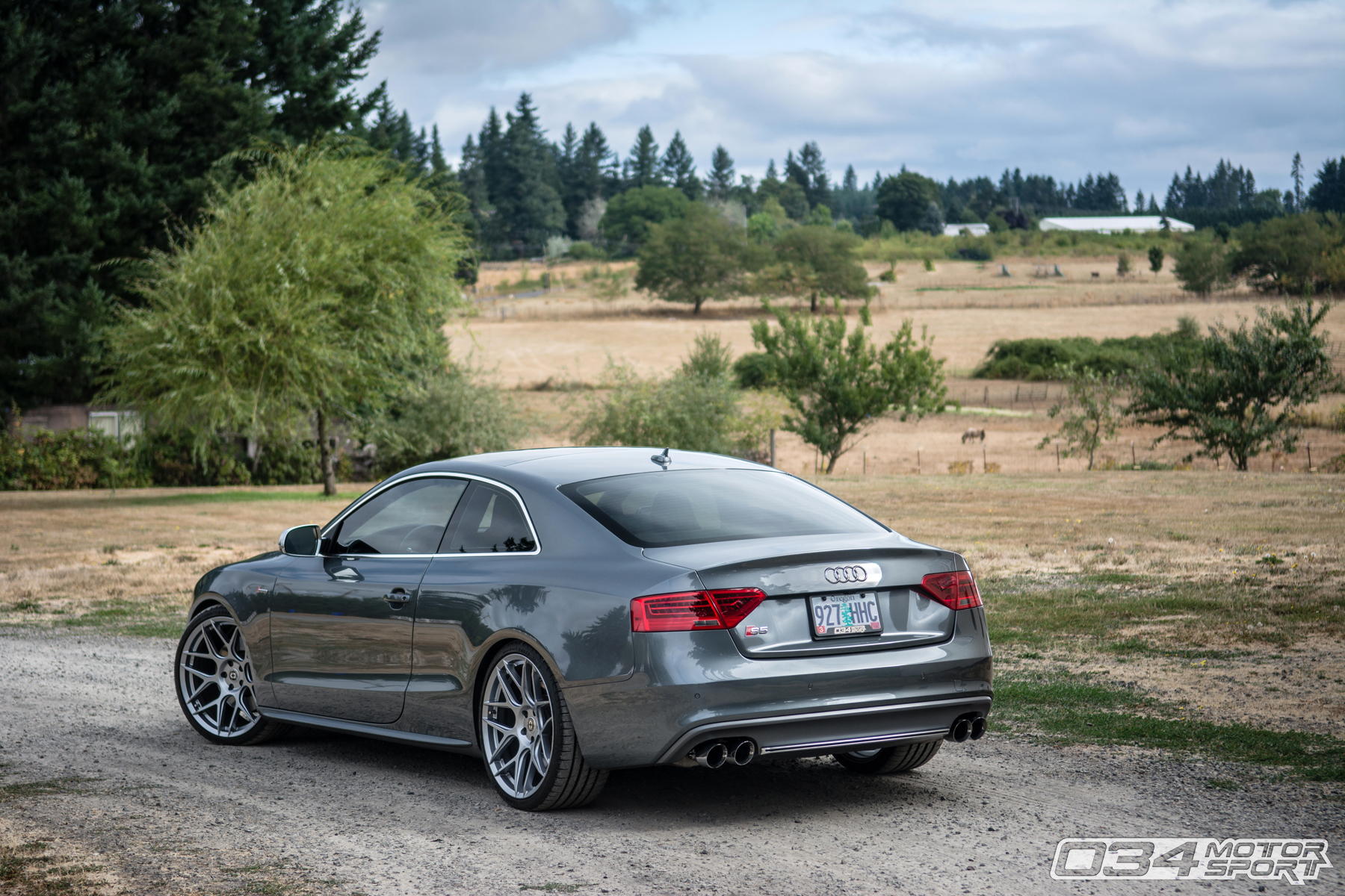 Dual Pulley Tuned B8.5 Audi S5 in Monsoon Gray
