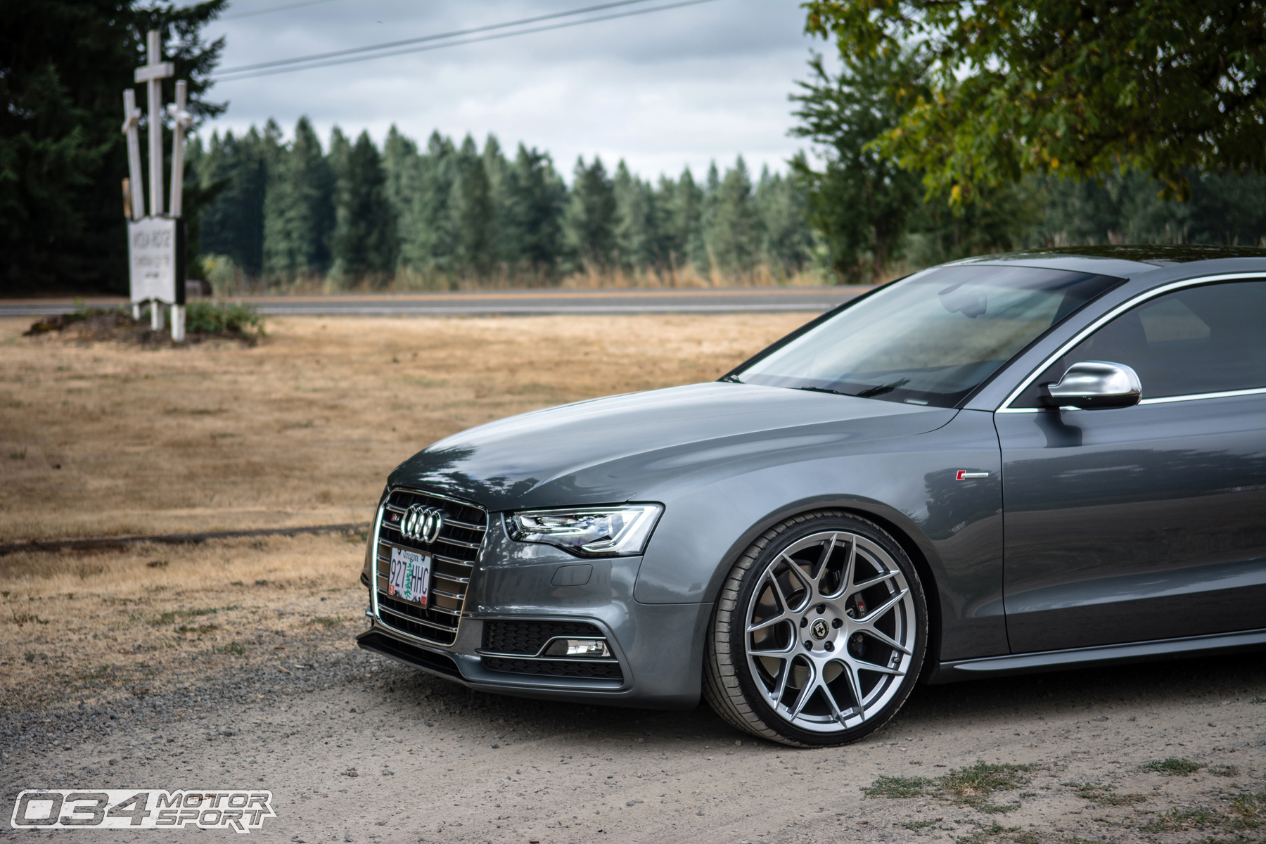 HRE FlowForm FF01 Wheels on Monsoon Gray B8.5 Audi S5