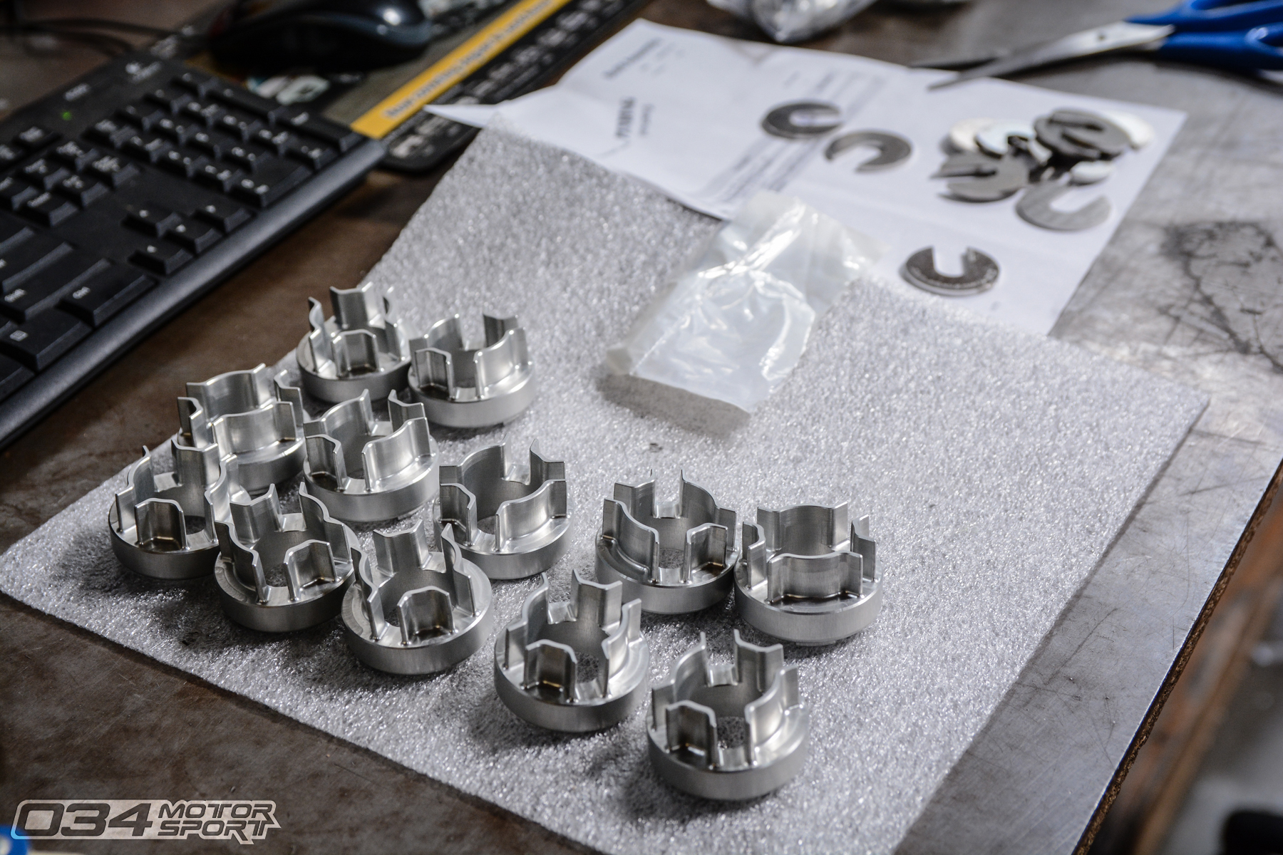 Billet Aluminum B7 Audi A4 Rear Differential Carrier Mount Inserts