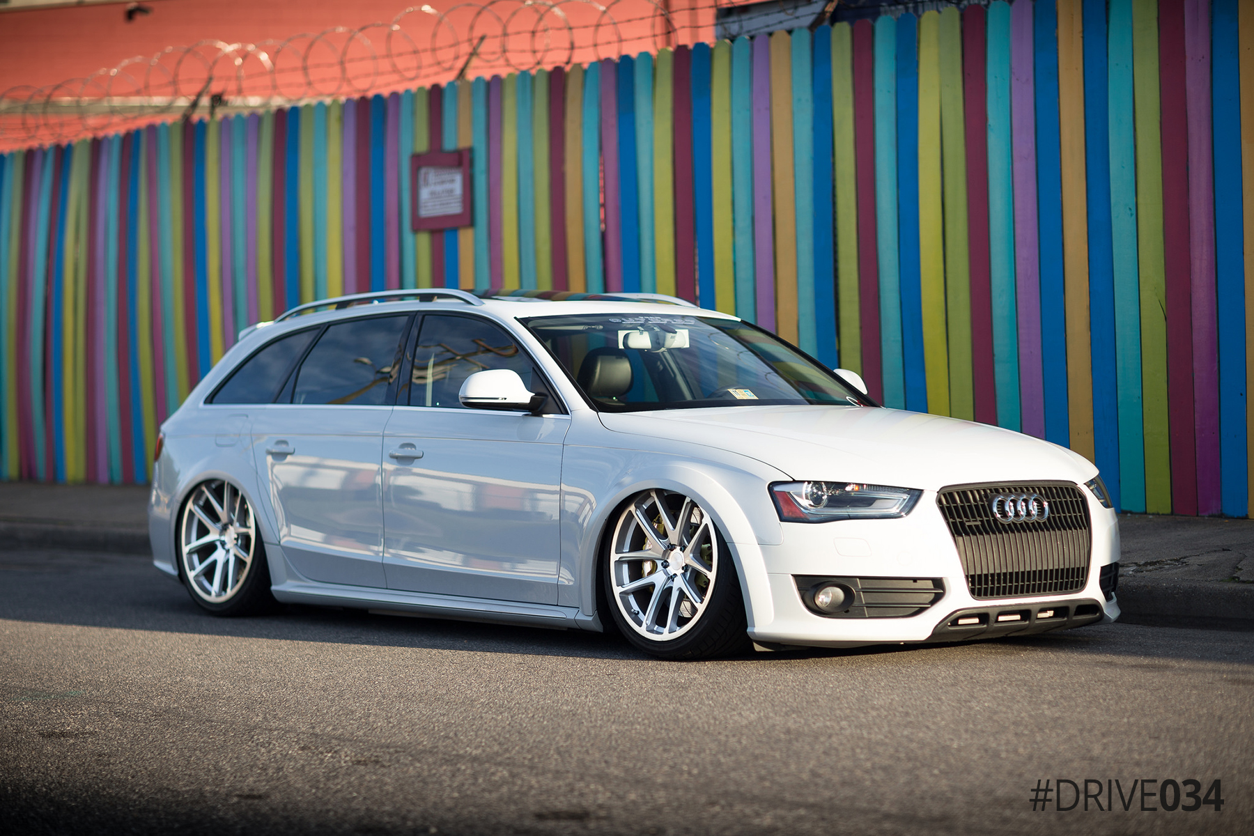Bagged B8.5 Audi Allroad with 034Motorsport Drivetrain Upgrades
