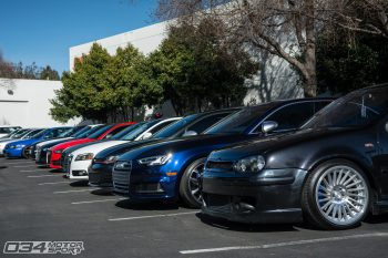 Audis and Volkswagens lined up at WinterFest 2018